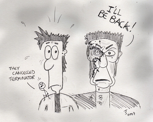Fred & Stick Man encounter a T-800